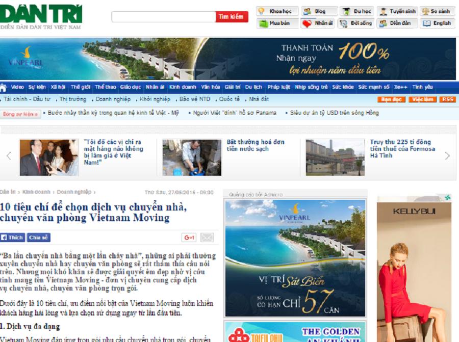 dịch vụ viết bài chuẩn seo, pr cho dự án Vietnam Moving