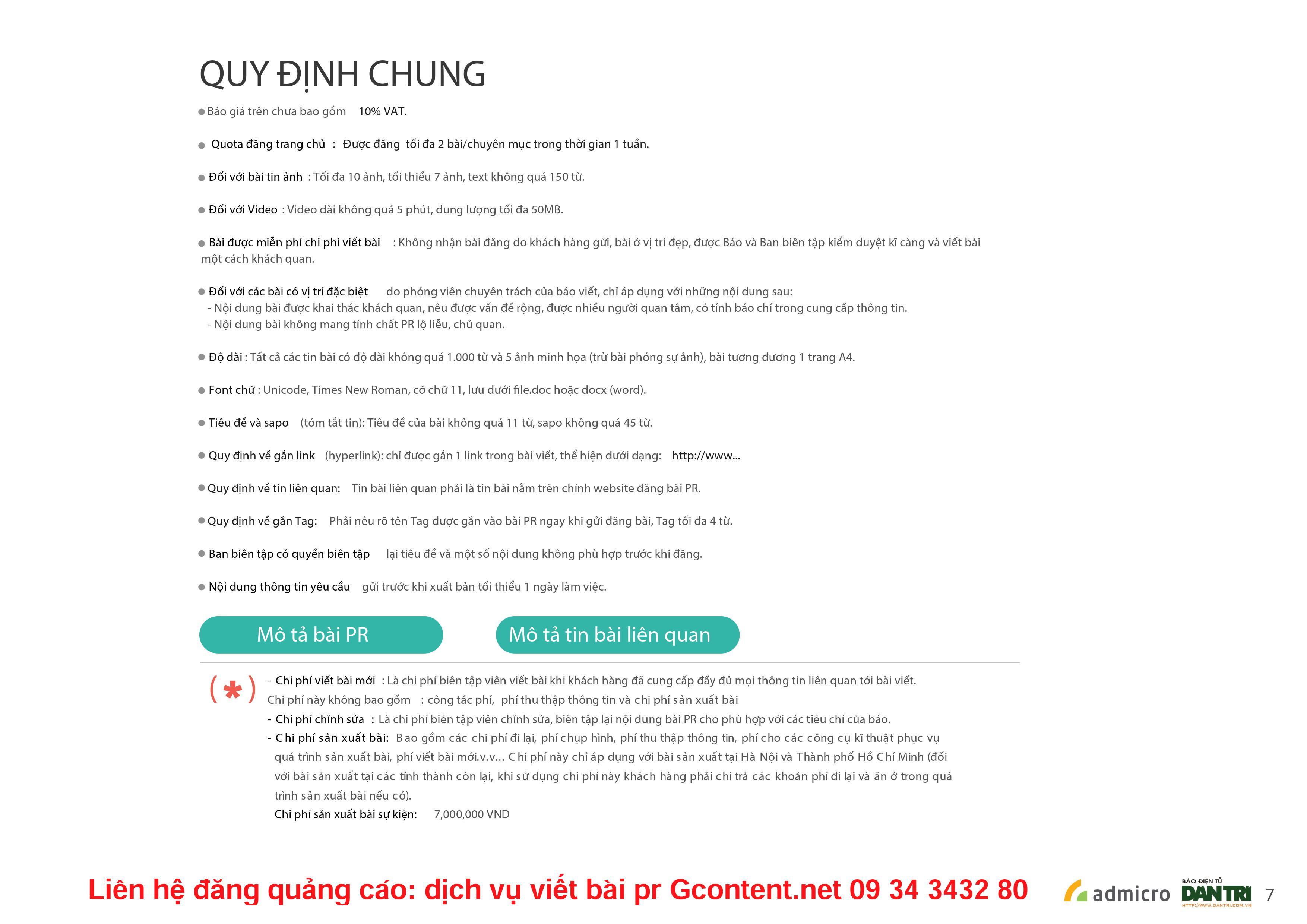 Báo Dân Trí - Bảng giá quảng cáo báo Dân Trí mới nhất năm 2016