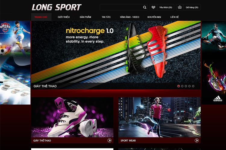 10 mẫu thiết kế website bán hàng đồ thể thao chuyên nghiệp