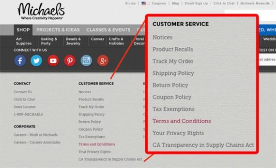 Viết nội dung gì ở góc Footer khi thiết kế web bán hàng, phần 1