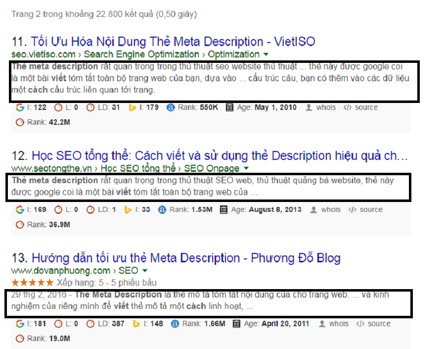 Cách viết thẻ mô tả Meta Description chuẩn seo