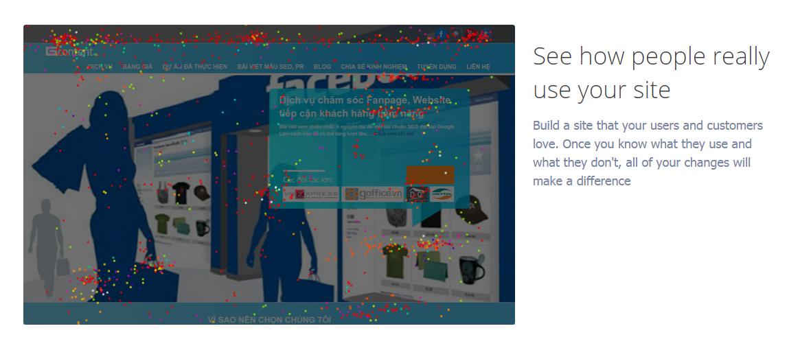 Bạn cũng có thể sử dụng Crazyegg để nắm các nội dung trên