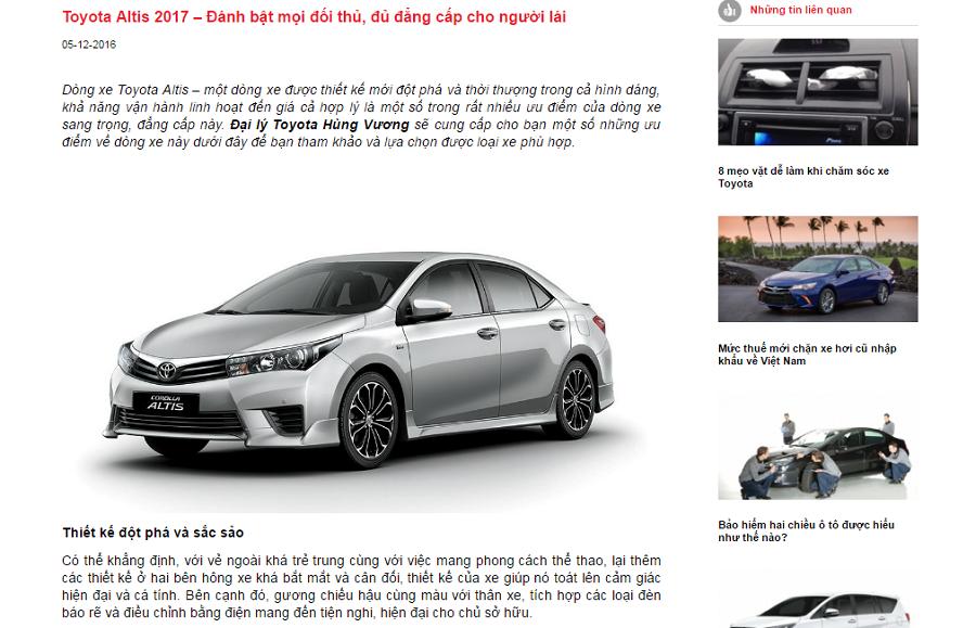 4 lưu ý khi viết bài chuẩn Seo cho xe hơi cho các SEOers
